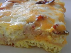 breakfast omelet casserole  (it's super unhealthy. so thank god i don't like eggs, but he does.)