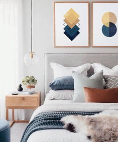 Bedroom Inspo The bedroom of - Architecture and Home Decor - Bedroom - Bathroom - Kitchen And Living Room Interior Design Decorating Ideas - Trendy Bedroom, Cozy Bedroom, Bedroom Inspo, Home Decor Bedroom, Modern Bedroom, Master Bedroom, Art For Bedroom, Scandinavian Bedroom, Bedroom Neutral