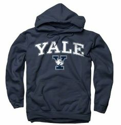 Yale Bulldogs Navy Perennial II Hooded Sweatshirt by New Agenda. $34.99. Draw string cord around the hood is adjustable. 50% cotton/ 50% polyester blend stands up wash after wash. Screen print graphics are durable. Kangaroo front pocket adds detail. Pullover hoodie provides a comfortable and casual look. You can't go wrong when you wear the classic stylings of this New Agenda Yale Bulldogs hoodie. With a screen print wordmark arching over your team's logo, this classic...