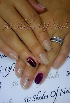 Bio Sculpture Gel | nails | nail art | nude | plum | winter | autumn | fall | nail swag | sparkle
