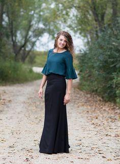 Alexandra Long Dress Skirt - - Modest Women's Alexandra Dress Church Skirt Casual Skirt Outfits, Girly Outfits, Modest Outfits, Modest Fashion, Dress Outfits, Fashion Outfits, Modest Clothing, Womens Fashion, Woman Clothing