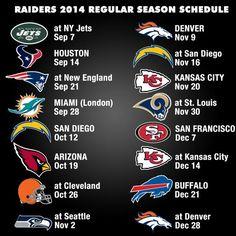 is my guess for this year Raiders Football Team, Raiders Baby, Football Season, Raiders Schedule, 32 Nfl Teams, Angels Baseball, Bo Jackson, Raider Nation, Kansas City