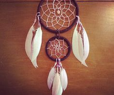 Double Dreamcatcher Double Layer Dream Catcher by DenisesCorner