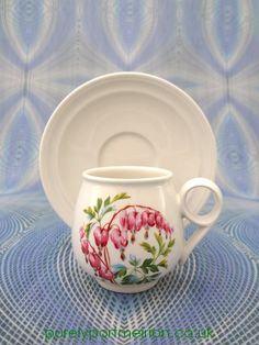 Portmeirion Weeping Hearts Espresso Cup And Saucer