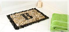 River rock bath/front door mat.
