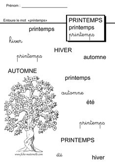 Maternelle Grande Section, French Course, French Worksheets, French Education, Nursery School, School Worksheets, Spring Activities, Writing Practice, Baby Games