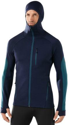 Stay warm on the cross-country ski trail with the SmartWool PhD HyFi full-zip hoodie. #REIGifts