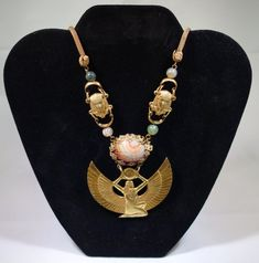 Exceedingly Rare Miriam Haskell Egyptian Revival Necklace