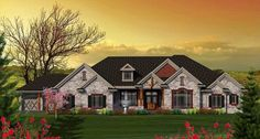 One Level Craftsman Home Plan - 89896AH | Architectural Designs - House Plans