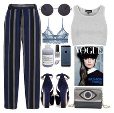"""""""308. Blue Eyes"""" by ass-sass-in ❤ liked on Polyvore featuring Proenza Schouler, Topshop, Diane Von Furstenberg, OPI, Only Hearts, Davines, BlissfulCASE and Jimmy Choo"""