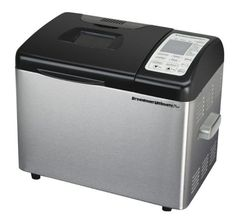 """Breadman TR2500BC Ultimate Plus 2-Pound Convection Breadmaker .............  Programmable bread maker bakes 1-, 1-1/2-, and 2-pound horizontal loaves Convection bake function for crisper crust; 300+ pre-programmed dishes Gluten-free, low-carb, cake batter, jam, and pizza-, bagel-, and pasta-dough choices Fruit, nut, and herb """"add-in"""" dispenser; 24-hour delay-bake timer   ...... ..."""