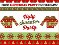 18 Best Ugly Sweater Party Images On Pinterest Ugly Christmas