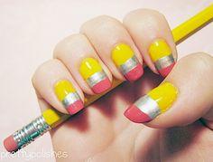 erasers nail art