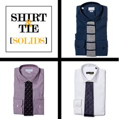 Style Tips | How to Match Your Shirt & Tie: Solids | GOTSTYLE.CA