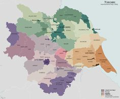 administrative map 1832 Yorkshire