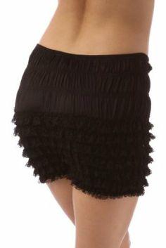 e2ae2cd8dd73 Amazon.com: Malco Modes Womens Sexy Ruffle Panties Tanga Dance Bloomers  Sissy Booty Shorts (Large, Black): Clothing