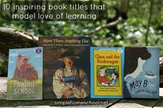 10 inspiring book titles that model love of learning