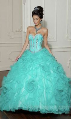 Tiffany and co themed quince dress