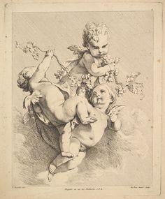 Louis Félix de La Rue | Tres Cupids Jugando con sarmientos | El Museo Metropolitano de Arte