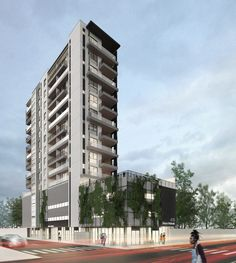 Térreo Arquitetos - edifício multifamiliar + vegetação Multi Story Building, Architects, Woods