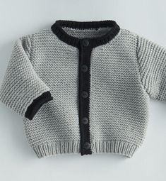 {Traditional and custom newborn baby dress, creates the best solution. Cardigan Bebe, Baby Boy Cardigan, Knitted Baby Cardigan, Knit Baby Sweaters, Baby Vest, Knitting For Kids, Baby Knitting Patterns, Baby Patterns, Free Knitting