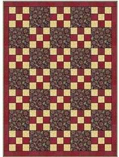 NINE PLUS ONE 3 YD QUILT PATTERN *Whip this out in a couple hours. Very good for beginners. $5.99