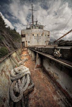 Abandoned ship in Sweden