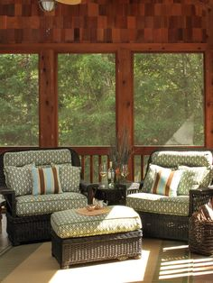 I hope when we have our sunroom built I can find these cushions & pillows.