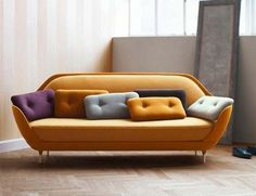 Sofa Style: 20 Chic Seating Ideas Favn sofa by Jaime Hayón for Fritz Hansen The post Sofa Style: 20 Chic Seating Ideas appeared first on Wood Diy. Danish Furniture, Sofa Furniture, Sofa Chair, Sofa Set, Luxury Furniture, Furniture Design, Plywood Furniture, Danish Sofa, Chair Cushions