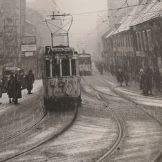 Storgata 1950  Foto: Mads Flovikholm Oslo, Train, Street, Pictures, Photos, Photo Illustration, Roads, Drawings