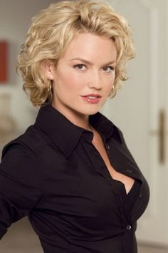 7 Short Curly Haircuts for Round Faces   http://www.short-haircut ...