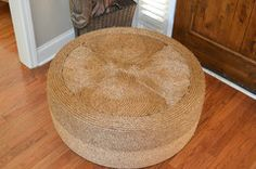 Make an ottoman from a tire and rope..? Yes please!