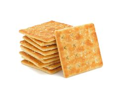 Cracker Isolated On White Stock Photo (Edit Now) 116978221 Confort Food, No Salt Recipes, Portuguese Recipes, Oven Baked, Biscotti, Finger Foods, Crackers, Oreo, Food And Drink