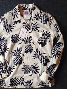 デュークカハナモクからオープンシャツのパイナップル柄が入荷しました。DK26335