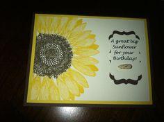 Stampin' UP Giant Sunflower Card Kit by jtolkacz on Etsy, $8.99