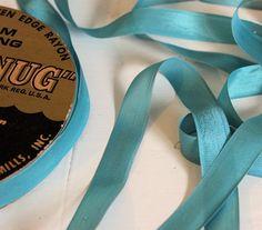 Vintage Hug Snug Seam Binding Ribbon LIGHT TURQUOISE BLUE  5 Vintage Nursery Decor, Light Turquoise, Snug, Ribbon, Trending Outfits, Unique Jewelry, Handmade Gifts, Etsy, Tape