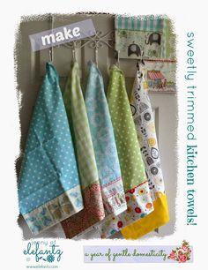 Jedi craft girl kitchen towel makeover dish towels pinterest jenny of elefantz tutorial sweet kitchen towels solutioingenieria Image collections