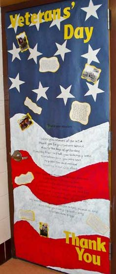 Great Classroom Idea: Veteran's Day Poem for classroom door decorations #VeteransDay www.operationwearehere.com/veteransday.html