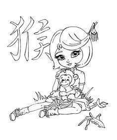 Chinese astrol. - Monkey by *JadeDragonne on deviantART