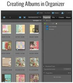 How to create albums in Photoshop Elements Organizer | a tutorial from digitalscrapbookinghq.com