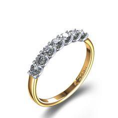 3/8 ctw Round Cut Delicate Diamond Wedding Ring in 14k Yellow Gold