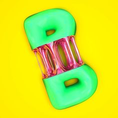 Bubblegum B for @36daysoftype collab with @jordimassoo #36daysoftype #36days_b #3d #cinema4d #c4d #illustration #3dtype #typography #bubblegum #candy by arrosambwhisky