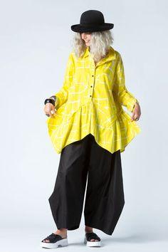 Marigot Shirt in Yellow Seki Carnaby | KALIYANA.COM Online Sales, Eclectic Style, Body Measurements, Rain Jacket, Shirt Designs, Windbreaker, Bell Sleeve Top, Boho, Yellow