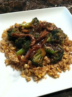 Beef and Broccoli and Easy Pea-sy Fried Rice Recipe