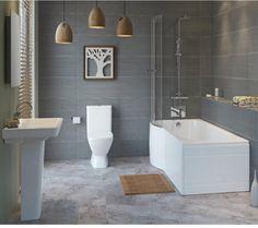 Slope shower bath