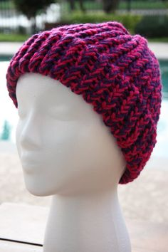 f4a0f3ae4c6 Loom knit Handmade Hat cap beanie. MADE TO by CampCousinsCrafts Loom Knit  Hat