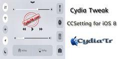 CCSetting tweaki Kontrol Merkezinde'ki Apple'nın kısaltmış olduğu 5 yardımcı kısayol butonlarını, daha iyi kontrol edebilmenizi ve buraya istediğiniz ayarlamayı yapmanıza olanak tanır. Menüleri çoğaltabilir, sırasını değiştirebilir, istediğiniz gibi düzenleye bilirsiniz. http://www.cydiatr.com/ccsetting-for-ios-8.html