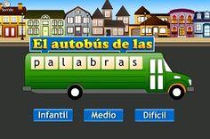 Lectoescritura - formapalabras. Juego, para formar palabras, con tres niveles de dificultad. En español.