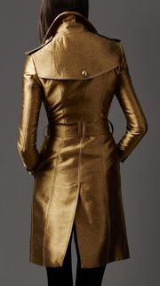 Soooo sometimes trench coats get old BUT I LOVE the solid gold. Go gold