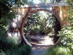 A moon gate for the garden.